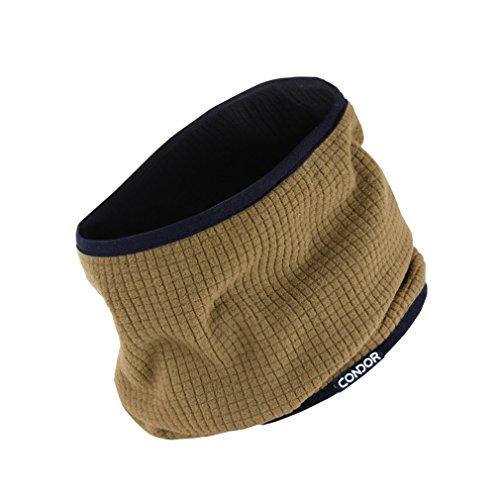 Condor Reversible Neck Gaiter, BROWN/ BLACK, Neck Cover Warmer, Fleece Face Mask