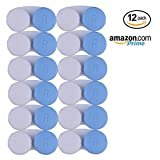 BLUE CONTACT LENS CASE - Value Pack of 12 Contact Cases. New Case Every Month For 1 Year Supply | Perfect for Home and Travel