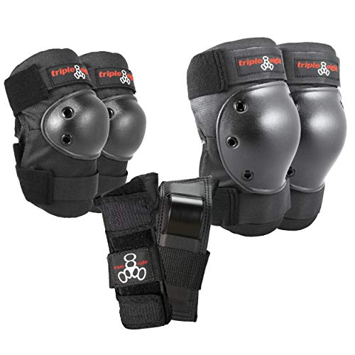 Triple 8 Saver Series Wristsavers/Kneesavers/Elbowsavers (Black, Medium, 3 Pack)