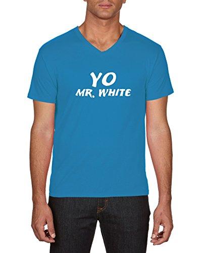 Touchlines Yo Mr White, Camiseta para Hombre Azul (Azur 49)