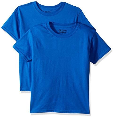 Gildan Kids DryBlend Youth T-Shirt, 2-Pack, Royal, Medium