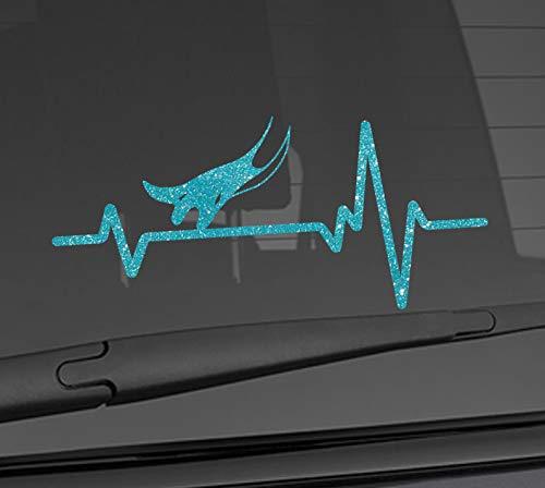Heart Beat Line Heartbeat ANIMAL SEA RAY Manta Stingray Eagle Love Car Vinyl Sticker Wall Decal 3.75