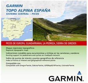 Garmin Topo Alpina España - Mapas para GPS, Cobertura geográfica, Sistema Central - Picos: Amazon.es: Deportes y aire libre