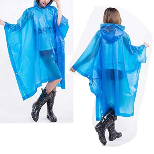 Hooded À Battercake Solides Raincoat Extérieur Couleurs Randonnée Capuchon Pédestre Bleu Portables Multifonctionnel Transparentes Dame Casual RzW0IznqaX