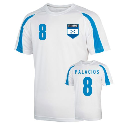 Honduras Sports Training Jersey (palacios 8) Kids B01MCT4A4NWhite MB (7-8 Years)