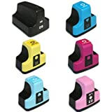 HI-VISION HI-YIELDS Compatible Ink Cartridge Replacement for HP 02 (Black,Cyan,Magenta,Yellow,Light Cyan,Light Magenta,6-Pack)