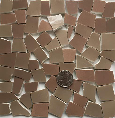 Mosaic Art & Craft Supply ~ Milk Chocolate Brown Tiles (T A431)