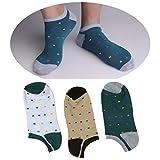 DMSocks Mens Socks Liner Low Cut Cotton (3-Pack) Ultimate Ankle Socks
