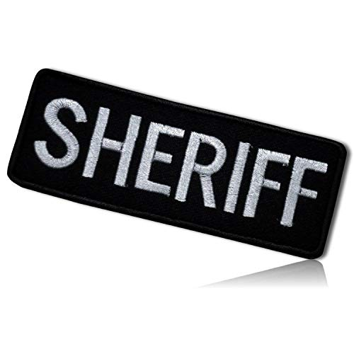 Sheriff Phrase Vest Uniform Police Officer Cop Serve & Protect Duty Special Forces Operations Command Parole Tactical Badge Emblem Hook & Loop Fastener Patch [4