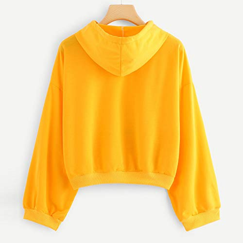 Automne Hooded Casual Col Coton Longues Manches À Femme Tops Rond Sports Elegant Pull Dames Sweat shirt Sweats Sweat Blouson Shirt Streetwear Chshe Yellow Hiver Chemisier Capuche 6qUxRXEy