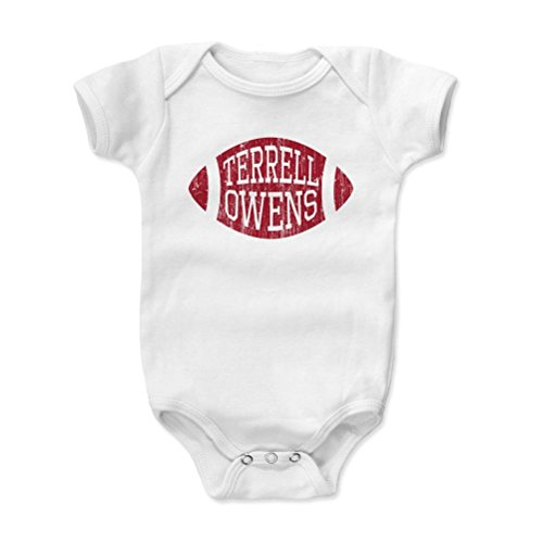 500 Levels Terrell Owens Baby Onesie 18 24 Months White   Vintage San Francisco Football Baby Clothes   Terrell Owens Football R
