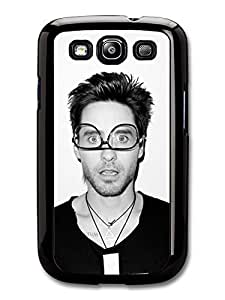 AMAF ? Accessories Jared Leto Wearing Glasses Black & White Portrait case for Samsung Galaxy S3