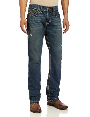 True Religion Men's Ricky Classic Straight Fit Super Tee Jean In Tribute