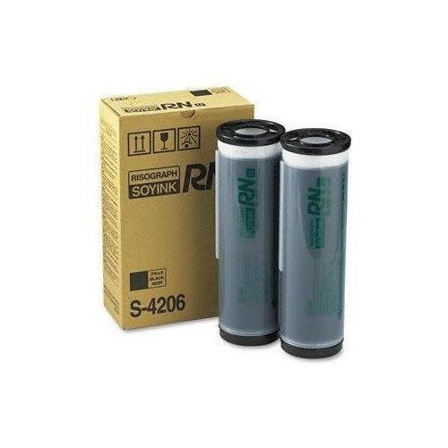 (Risograph S-4206 OEM Toner - RN2000UI 2030UI 2130UI 2235UI 2530UI Black Ink (2-1000 cc. Ctgs/Ctn) (20000 Yield))
