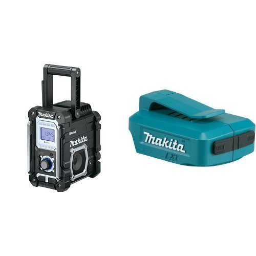 Makita XRM04B 18V LXT Lithium-Ion Cordless Bluetooth Job Site Radio, Tool Only with ADP05 LXT Lithium-Ion Cordless Power Source, 18V by Makita