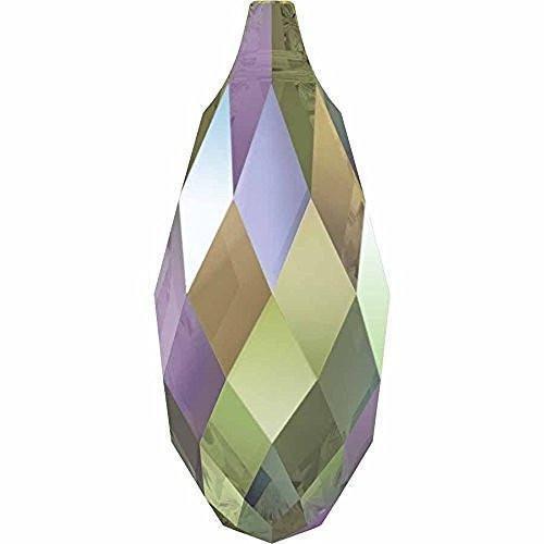 6010 Swarovski Pendant Briolette Crystal Paradise Shine | 11mm - Pack of 1 | Small & Wholesale ()