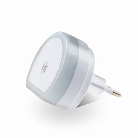 Luz Nocturna Infantil LED, Lámpara Nocturna con Sensor Activo Luz Quitamiedos Infantil con Enchufe Pared
