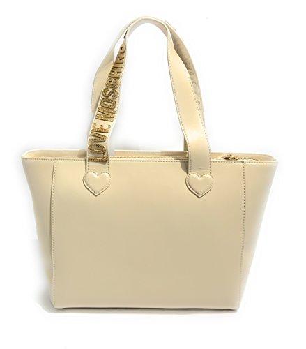 Moschino - Bolso al hombro para mujer Marfil blanco perla (ral 1013)