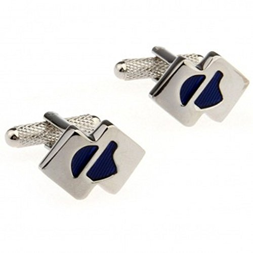 SuperbMatch Cufflinks For Men Or Women Designs TZG03979 Enamel Cufflink 1 Pair