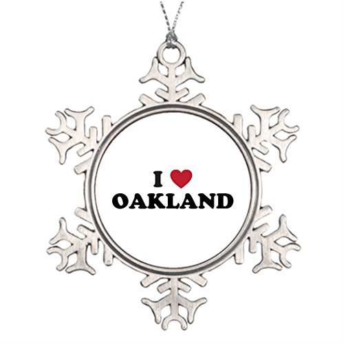 Metal Ornaments Xmas Trees Decorated Oakland Vacation Santa (Chicago Halloween Ball 2017)
