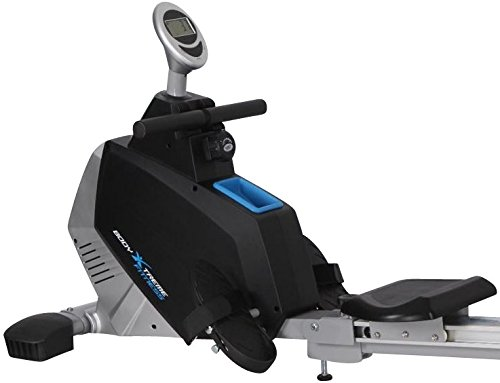 Body Xtreme Fitness Rowing Machine Turbo 2000, Home Exercise Equipment, Fitness, Lose Weight, Cardio, Arm Workout, Training and Exercise Rower + Bonus Cooling Towel