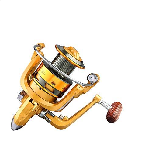 (12000 molinete 13+1BB Metal Feeder Carretilha de Pesca Carp Fishing Reel Shot Casting carp Salt Spinning Reels,Black,2000 Series)