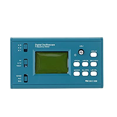 KKmoon LCD Digital Storage Oscilloscope Frequency Meter DIY Kit with Professional BNC Probe USB Interface DSO 20MSa/s 3MHz Blue