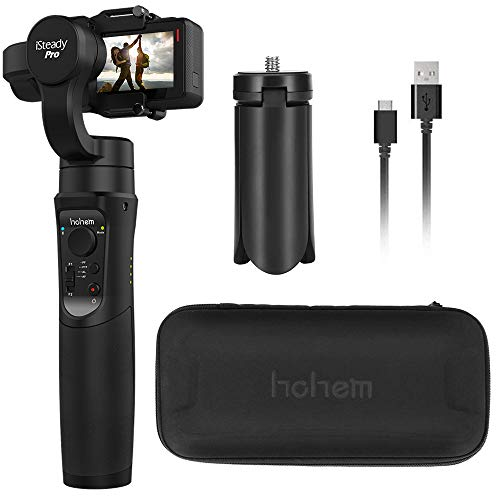 Hohem iSteady Pro 2, 3-Axis Splash Proof Gimbal Stabilizer for GoPro, DJI OSMO Action Camera, GoPro Gimbal with Tripod, APP Control for Gopro Hero 7, SJCAM, YI, Sony RX0 (iSteadyPro)
