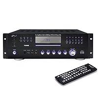 Pyle Home Theater Preamplificador receptor, sistema de audio /video, reproductor de CD /DVD, radio AM /FM, lector de MP3 /USB, 1000 vatios