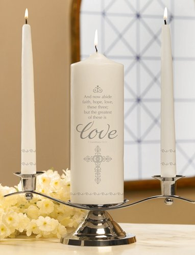 (Unity Candles Faith, Hope and Love Set, 9 Inch x 3 Inch)