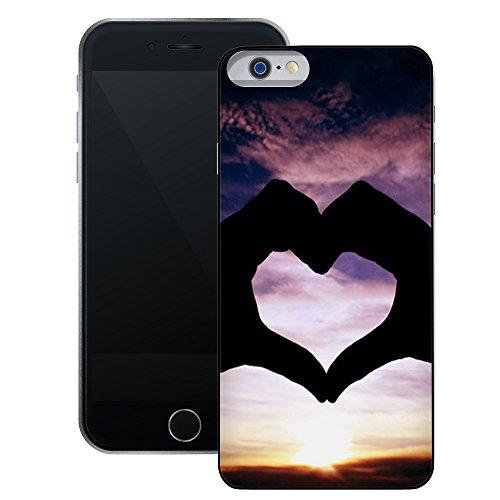 Hände bilden Herz | Handgefertigt | iPhone 6 6s (4,7') | Schwarze Hülle