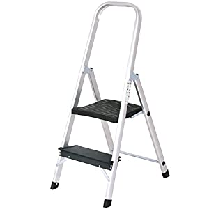Giantex Aluminum 2 Step Ladder Folding Non-Slip 330lbs Capacity Work Platform Stool