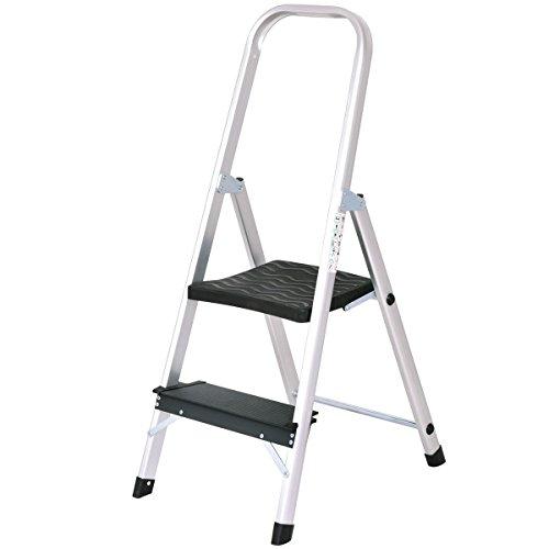 Giantex Aluminum 2 Step Ladder Folding Non-Slip 330lbs Capacity Work Platform Stool