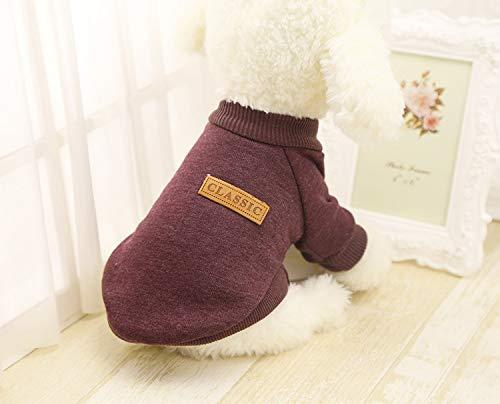 (Wakeu Pet Supplies Pet Clothes For Small Dog Girl Dog Boy Soft Warm Fleece Clothing Winter (XXL, Coffee))
