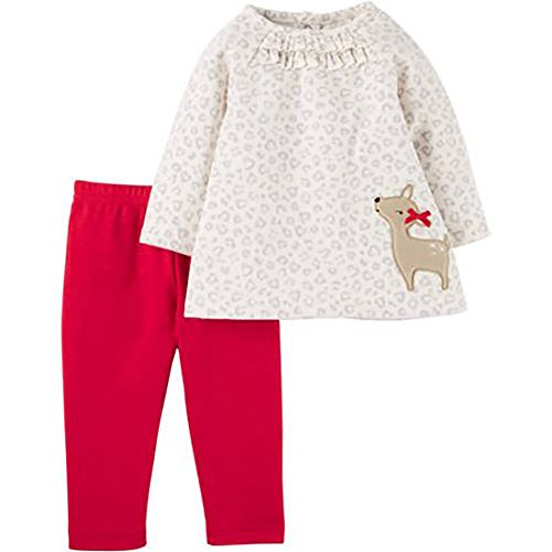 Child of Mine by Carters Newborn Baby Girl Pant Set-2 Pieces (0-3 Months, Deer) ()