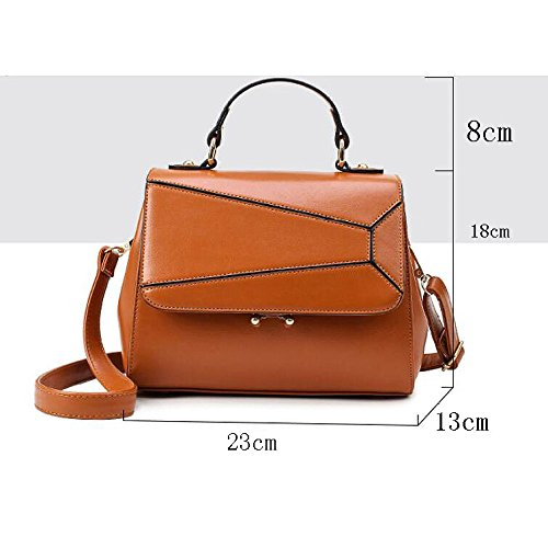 Dhfud Stitching Handbag Fashion Crossbody Women Bag Pu Pink PpxrPRv