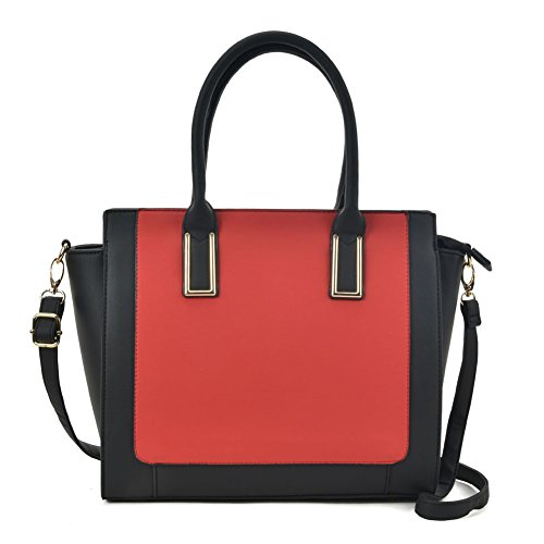 Tote YOUNG Bag Top Contrast Red Satchel Women Fashion SALLY Handbags Handle TPw64T