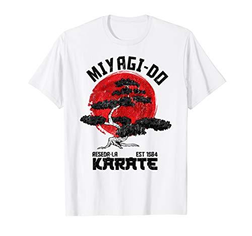 Vintage retro Miyagi-Do Karate Distress T-Shirt Kid Tee ()