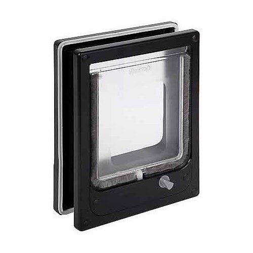 Fancy Paws Catwalk Multi Magnetic 4 Way Locking Cat Door Black