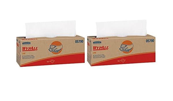 WypAll L40 y de limpieza desechables Toallas de secado de (05790), uso limitado limpiaparabrisas, color blanco, 9 Pop Up cajas por caja, 100 hojas por caja, ...
