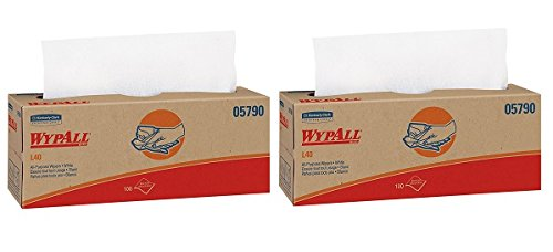 e Cleaning and Drying Towels (05790), Limited Use Wipers, White, 9 Pop Up Boxes per Case, 100 Sheets per Box, 900 Sheets Total (2-(900 Sheets)) ()