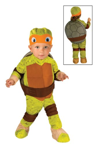 Pizza Costumes Toddler (Teenage Mutant Ninja Turtle Toddler Costume Michelangelo (Orange) -)