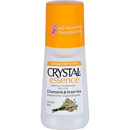 Crystal Deodorant Essence Roll-On 2.25oz Chamomile/Green Tea (3 Pack) - Chamomile Essence