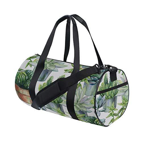 (Duffel Sturdy Succulent Plants Green Gym Tote Lightweight Weekend Duffel Bags For Gym Rats Kids Knapsack Gym Camping School Dufflebag)