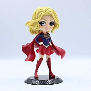 HTQING Power Hero Supergirl Ation PVC Figure 4 Inch with Boxed