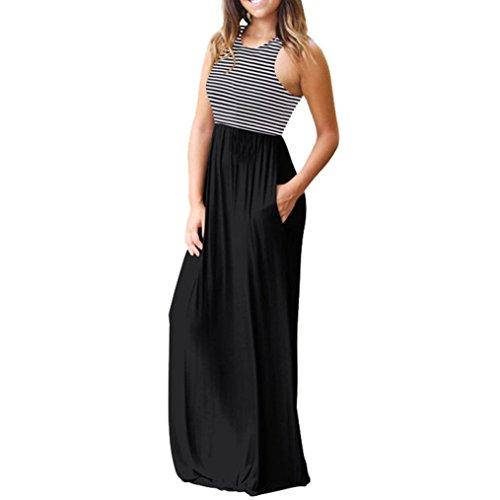 Vestidos Mujer Verano 2018,Mujer Bohemia Maxi verano playa larga cóctel fiesta vestido floral LMMVP (S, G): Amazon.es: Belleza
