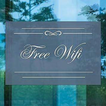 5-Pack Free WiFi Classic Navy Window Cling CGSignLab 27x18