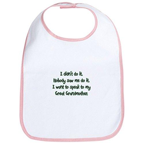 CafePress - I Want To Speak To My Great Grandmother Bib - Cute Cloth Baby Bib, Toddler Bib (Grandma Bib Great)