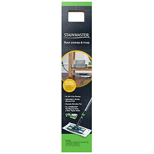 STAINMASTER Sweep & Mop Floor Cleaning Tool with Reusable Microfiber Refill Pad Product description