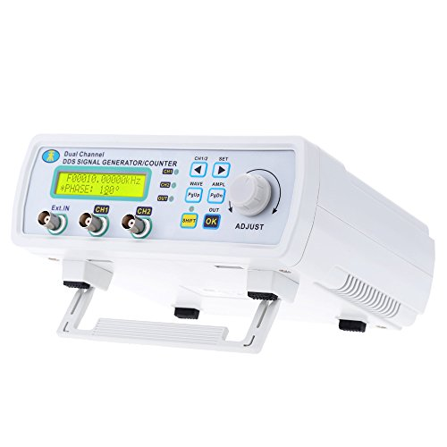 Signal Generator, KKmoon High Precision Digital DDS Dual-Channel Signal Source Generator Arbitrary Waveform Frequency Meter 200MSa/s 25MHz